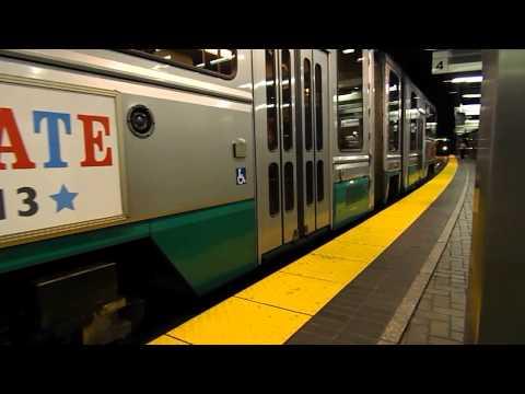 MBTA HD: Green Line Action at Park Street Station