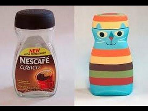 Manualidades con frascos de vidrio 6 youtube for Ideas para reciclar botellas de vidrio