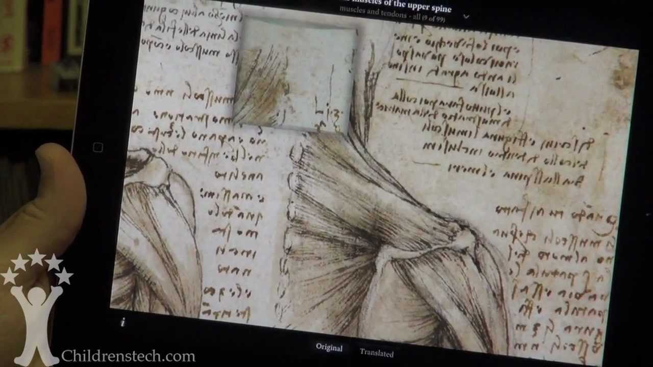 Leonardo Da Vinci Anatomy By Touch Press App Preview Youtube