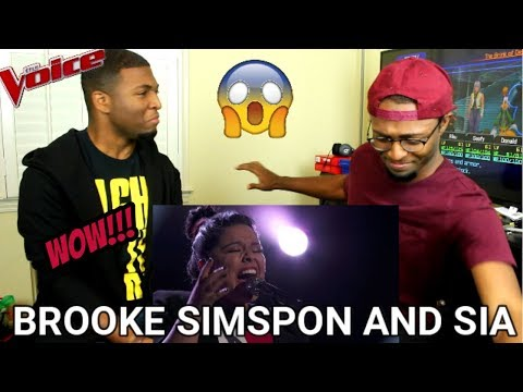 The Voice 2017 Brooke Simpson and Sia  Finale: Titanium REACTION