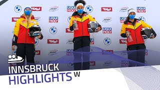 Laura Nolte leads German podium sweep in Innsbruck | IBSF Official