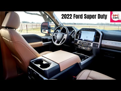 2022 Ford Super Duty F250 Lariat Tremor and F350 Limited Interior