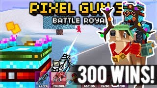 300+ BATTLE ROYALE WINS! COMPLETING SEASON 6 BATTLE PASS! | Pixel Gun 3D