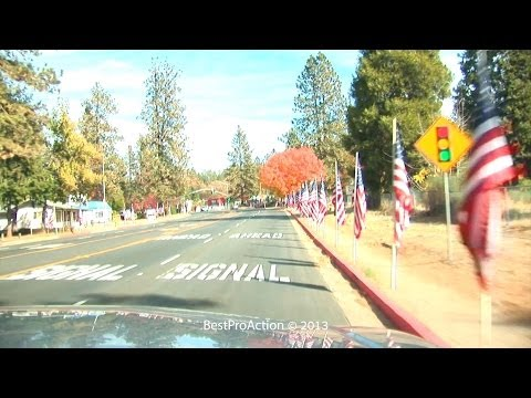 Parade Of Flags in Paradise, CA.