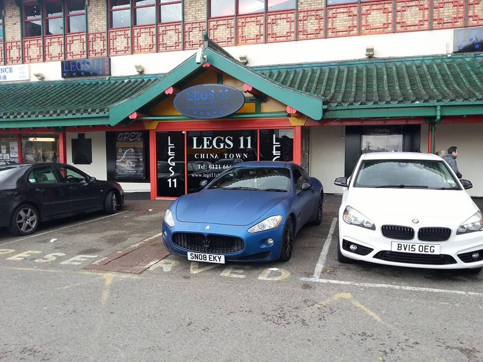 Matte Blue Maserati Gran Turismo And Bmw I8 In Birmingham Chinatown