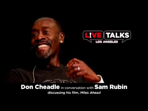 """Don Cheadle  discussing his movie """"Miles Ahead"""", in conversation with Sam Rubin (Miles Ahead)"""