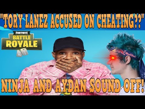 NINJA AND GHOST AYDAN SOUND OFF ON TORY LANEZ POSSIBLY CHEATING!! (FRIDAY FORTNITE)