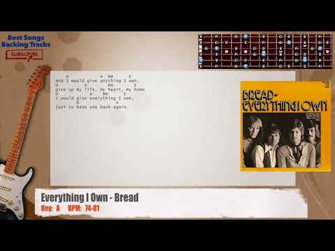 Everything I Own - Bread Guitar Backing Track with chords and lyrics