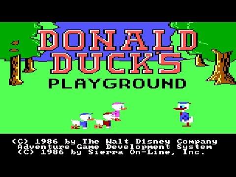 Donald Duck's Playground (PC-DOS) 1986, Sierra On-Line/Walt Disney