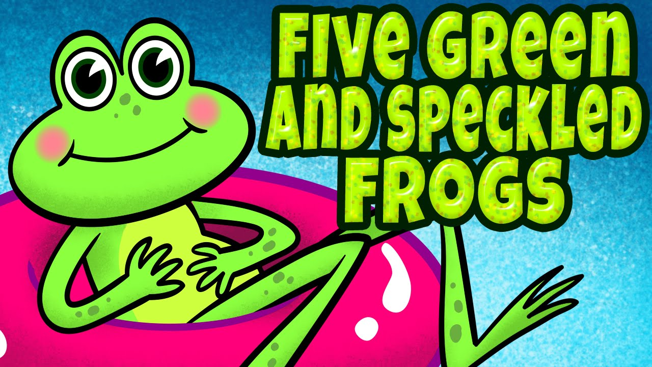 Five Green and Speckled Frogs - Counting Songs for Children - Kids ...