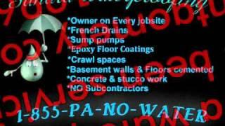 basement waterproofing,waterproofing,sump pumps,wet,damp,flooded,leaky basements.
