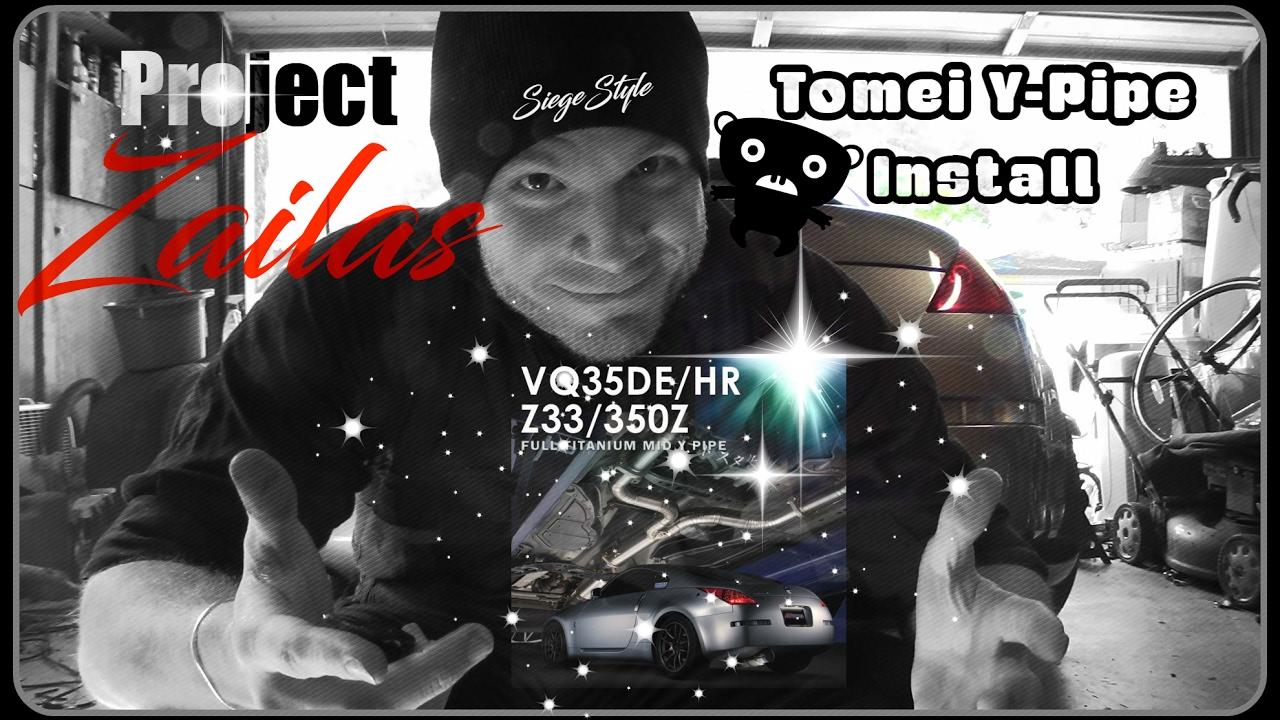 Project Zailas Z33 350Z: Tomei Y-Pipe Install