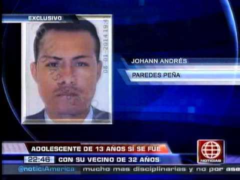 América Noticias - 100114 - Adolescente sí se fugó con comerciante y estaría en Trujillo