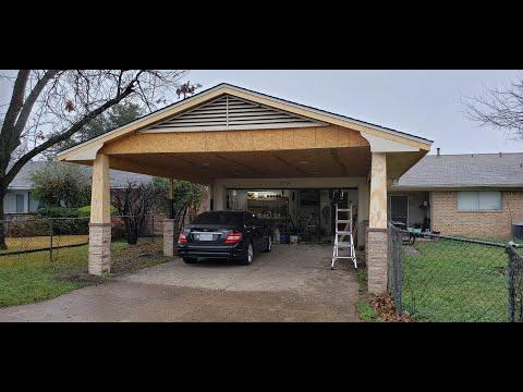 Building a carport - YouTube