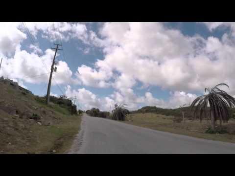 Antigua Route vers Nelson's Dockyard, Gopro / Antigua Road to Nelson's dockyard