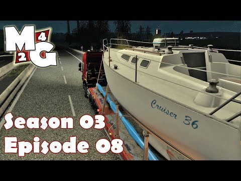 Euro Truck Simulator 2 [S3] | HAULING A YACHT (Part 1) | Early Autumn Mod Episode 8