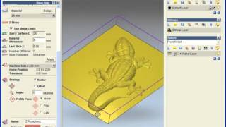 ArtCAM - уроки по работе с программой, урок - lizard part1