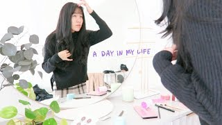 a realistic (not 5am) morning routine & a work day in my life