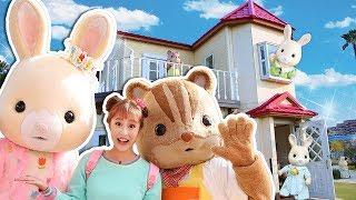 반가워 실바니안♥ 일본 후쿠오카 실바니안 가든 초콜릿 토끼 불이들어오는 이층집 구경놀이 - 지니