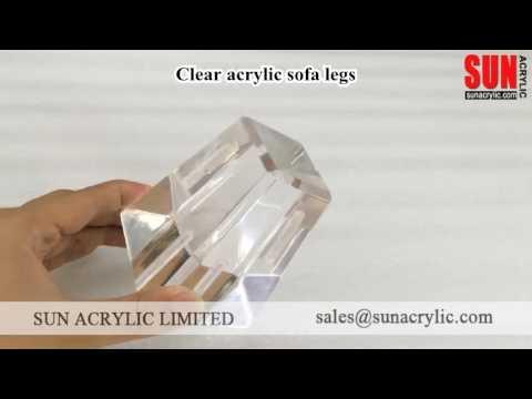 Clear Acrylic Sofa Legs | Acrylic Upholstery Legs | Sun Acrylic Ltd.