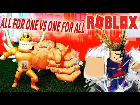 Roblox - ALL FOR ONE VS ONE FOR ALL SỨC MẠNH HUYỀN THOẠI NÀO BÁ NHẤT - Boku No Roblox