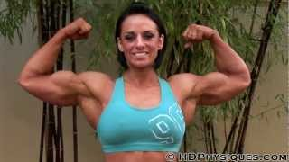 Tarna flexes her muscles
