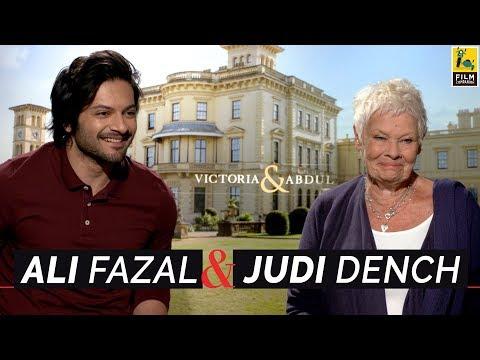 Judi Dench & Ali Fazal  with Anupama Chopra  Victoria & Abdul