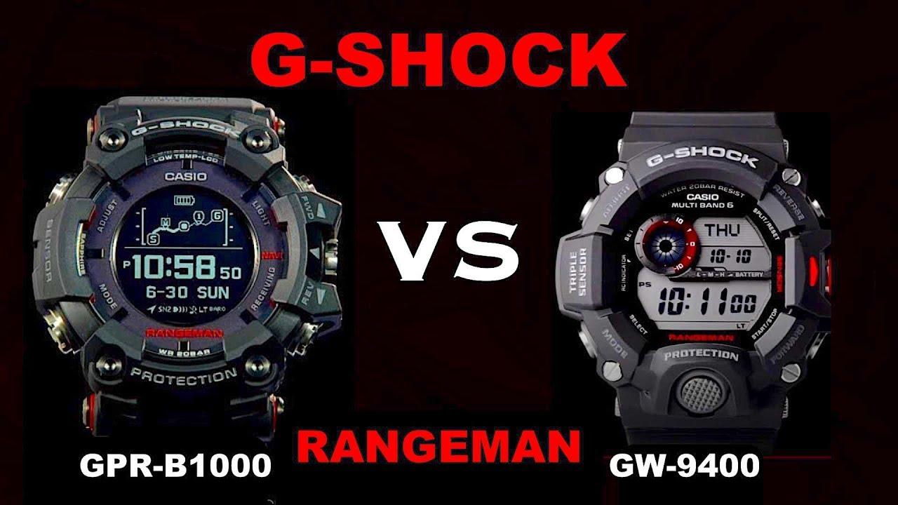 casio g shock gps bluetooth rangeman gpr b1000 vs rangeman. Black Bedroom Furniture Sets. Home Design Ideas