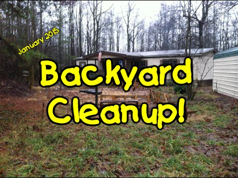 Clean Backyard backyard cleanup - youtube