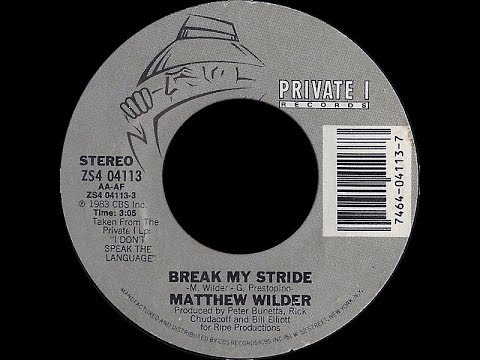Matthew Wilder ~ Break My Stride 1983 Disco Purrfection Version