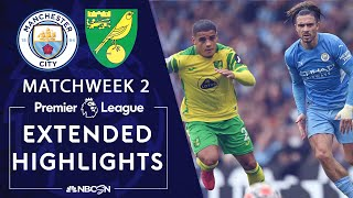 Manchester City v. Norwich City   PREMIER LEAGUE HIGHLIGHTS   8/21/2021   NBC Sports
