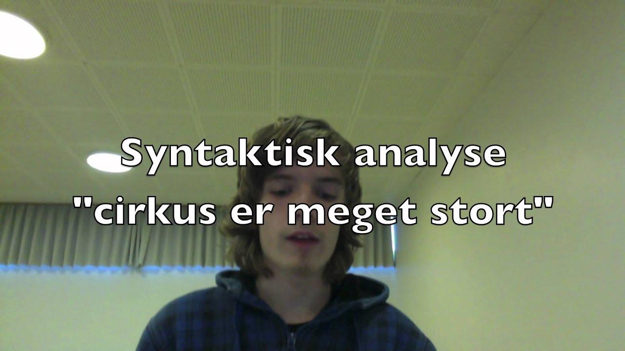 Syntaktisk & morfologisk analyse