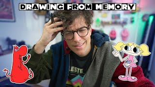 DRAWING CARTOON NETWORK CHARACTERS FROM MEMORY