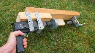 WOW! How To Make LATHE With Drill DIY