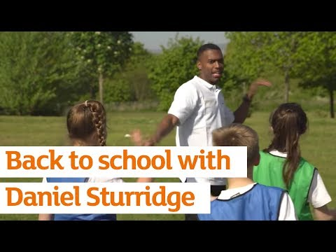 Active Kids ambassador Daniel Sturridge surprises a primary school in North Wales