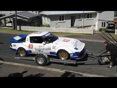 Low Loader Race Car Trailer RX7 - YouTube