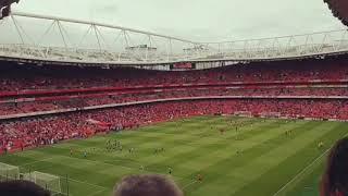 Arsenal VS Man city 2018 Kick off Time Lapse