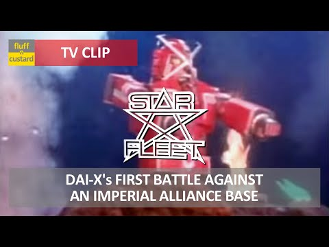 Star Fleet (1980) - The Dai-X's first battle against an Alliance base [HQ]