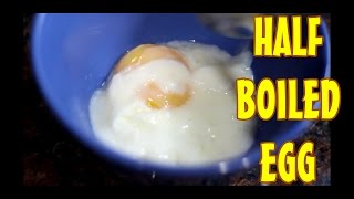 How Make Perfect Half Boiled Egg