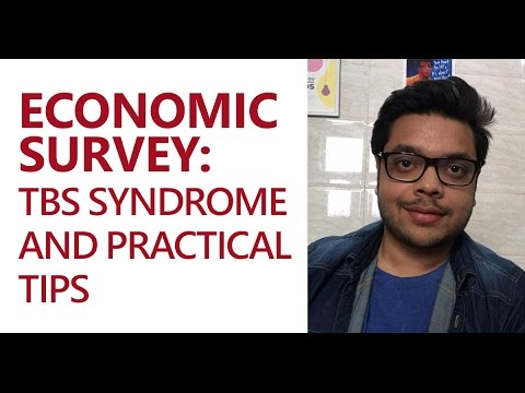 Economic Survey: TBS Syndrome and Practical Tips (UPSC CSE/IAS Preparation)