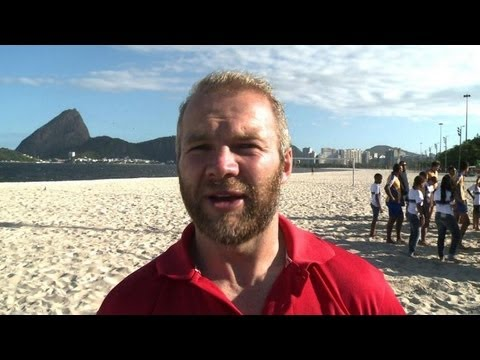 Former England rugby sevens captain promotes the sport in Brazil