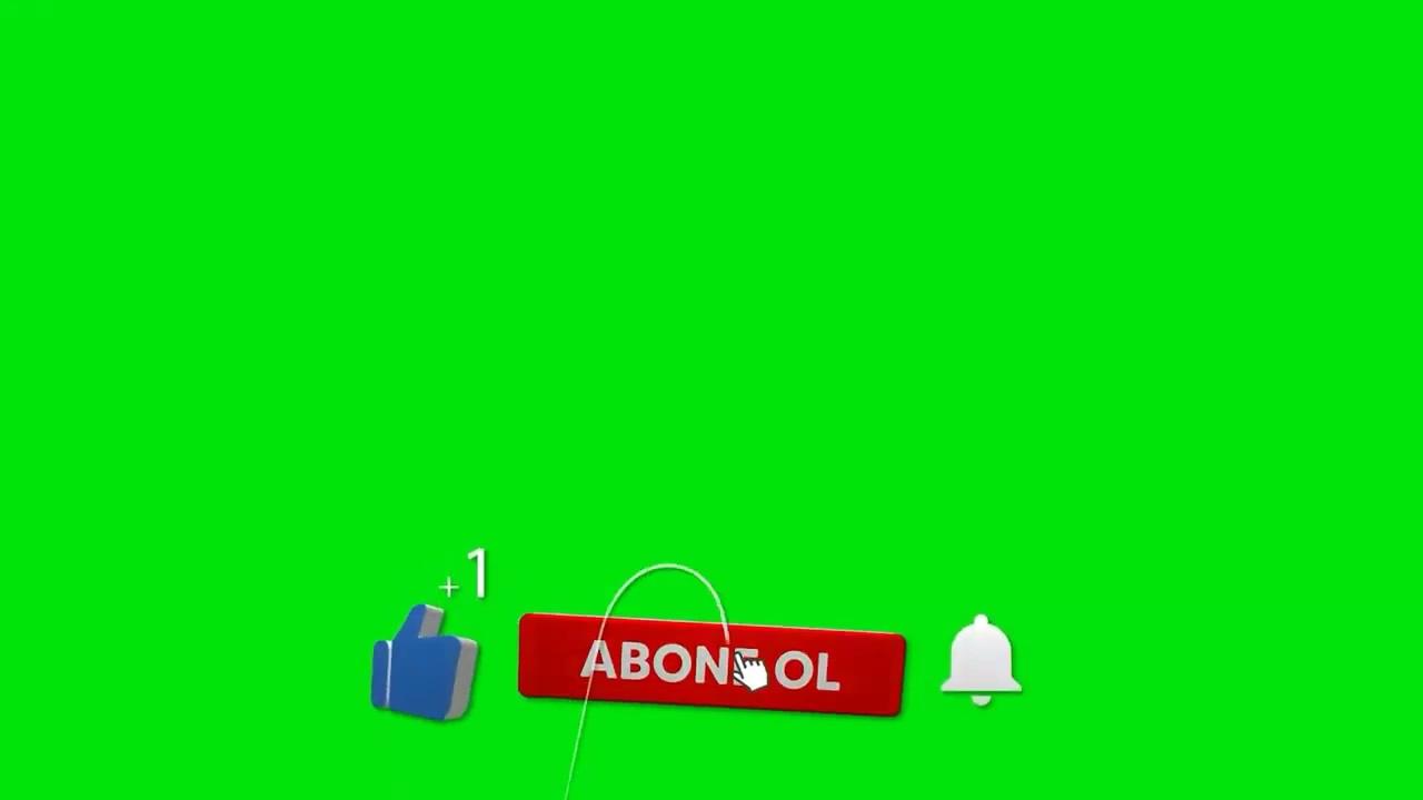 Abone Ol Like At Bildirimleri Aç Animasyonu Green Screen