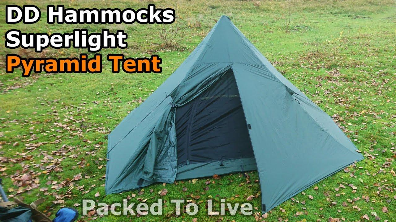 & DD Hammocks Superlight Pyramid Tent - YouTube