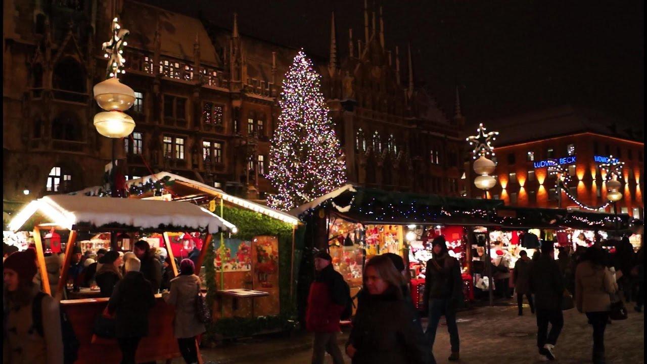 Christmas In Munich Germany.Merry Christmas I Weihnachtsmarkt Munchen I Jingle Bells Christmas Market Munich Germany