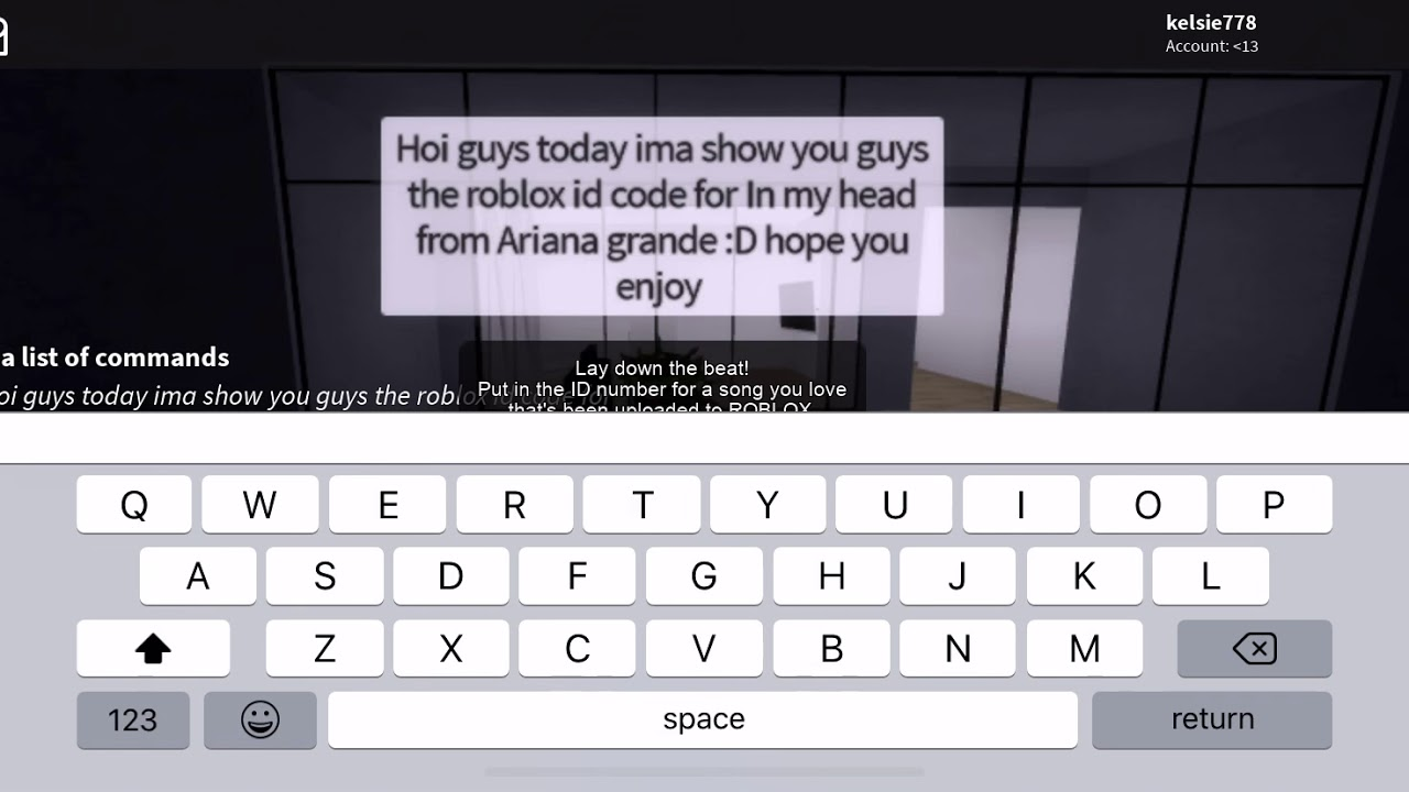 Enjoy The Show Roblox Id Roblox Id Code For In My Head Ariana Grande Youtube