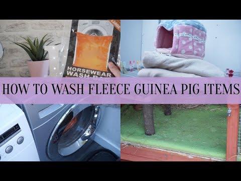 HOW TO WASH GUINEA PIG FLEECE BEDDING + FLEECE ITEMS *without ruining washing machine*| Imy'sAnimals