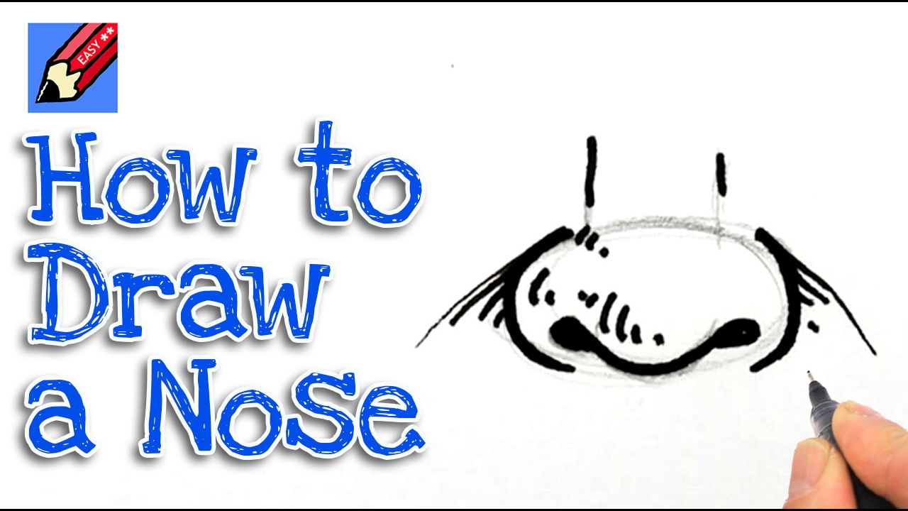Learn how to draw a nose real easy for kids and beginners ...