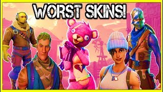 TOP 15 WORST SKINS IN FORTNITE! (You Use These!) | Fortnite Battle Royale!