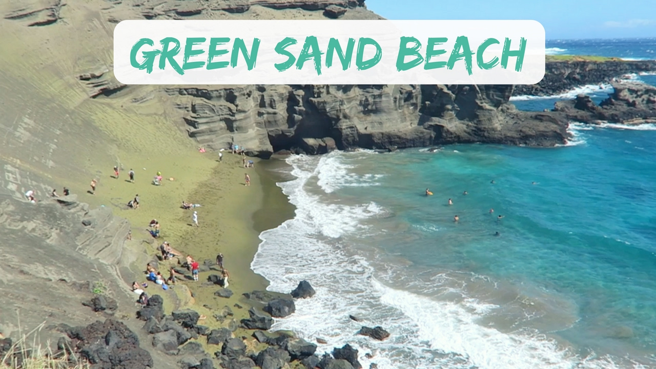 Hiking To Green Sand Beach In Hawaii