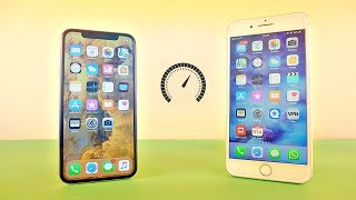 iPhone X vs iPhone 8 Plus - Speed Test! (4K)